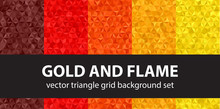"""Triangle Pattern Set """"Gold And..."""