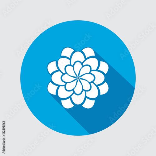Canvas Print Flower icon