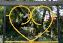 A Yellow Wrought Iron Heart