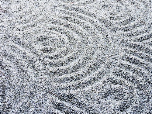 Acrylic Prints Stones in Sand Wavy sand pattern in Japanese rock garden