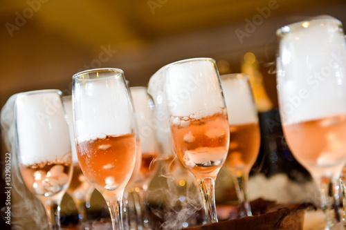 Champagne glasses with side light Slika na platnu