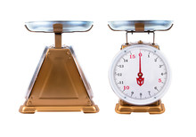 Two Vintage Golden Kitchen Sca...