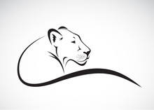 Vector Of A Lion Female Design...