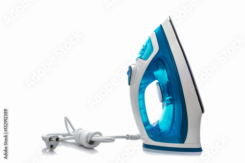 Cuadros en Lienzo Steam iron on white background.