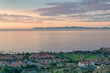 Catalina Island during sunrise viewed from Rancho Palos Verdes