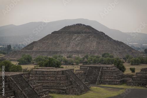 Tuinposter Mexico Teotihuacan Sun Pyramid