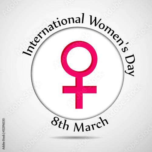 Illustration Of Womens Symbol For International Womens Day Buy