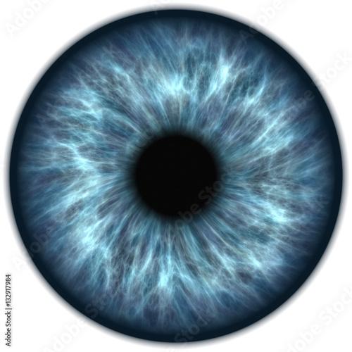 Fotografía  Illustration of a green human iris