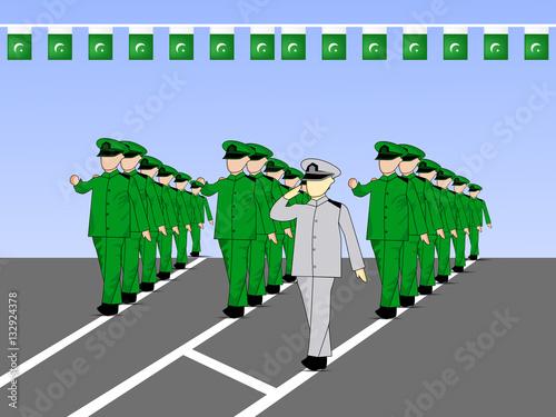 Fotografia, Obraz  Pakistan's Day background