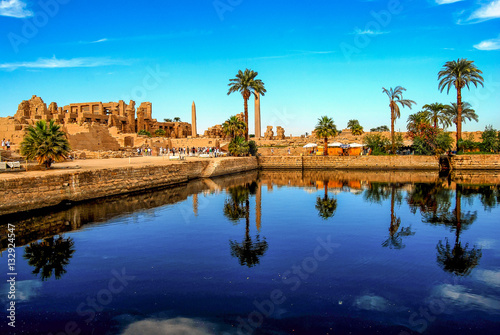Photo Stands Egypt Karnak Tempel in Luxor