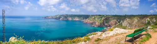 Aluminium Prints Sea Icart point panorama, Guernsey