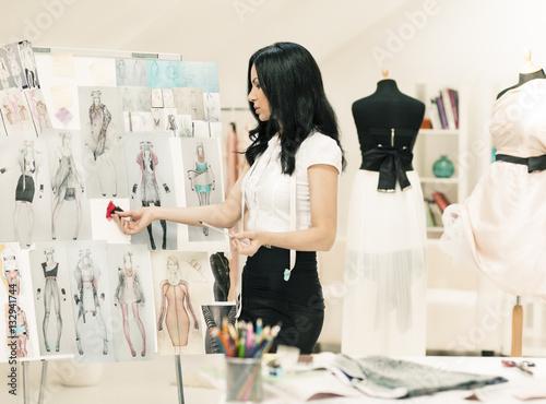 Valokuva  Fashion Designer Working
