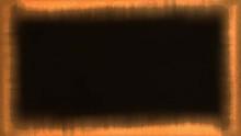 Marco O Borde Rectangular Abstracto Y Fluctuante  En Tonos Ocre Y Bordes Rotos Y Difusos .Canal Alpha Para Incrustar Imagen De Fondo