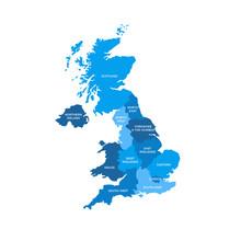 United Kingdom UK Regions Map