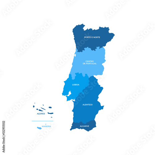 Photo Portugal Regions Map
