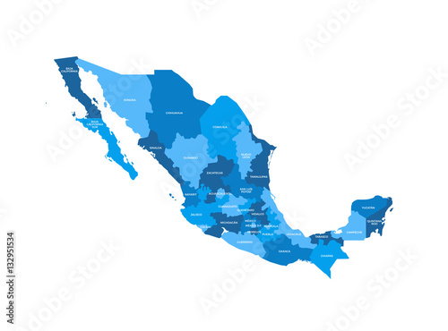 Mexico Regions Map Wallpaper Mural