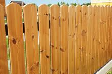 Wooden Fence Door. Cozy Wood Fence  - Wood Fencing.