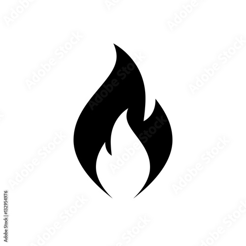 Fotografie, Tablou Fire flame icon