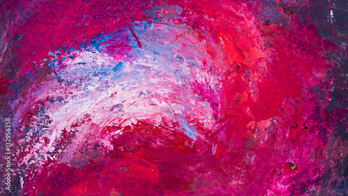 Photo Abstract acryl hand-painted background texture on cardboard canvas