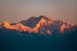 canvas print picture - Kanchenjunga im Sonnenaufgang