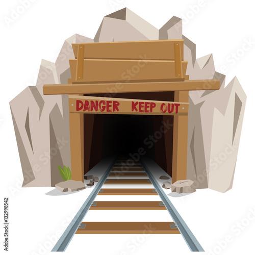 Fényképezés  Railroad mine entrance tunnel