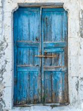 Blue Traditional Vintage Wooden Door
