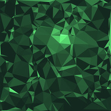 Emerald Stone Background Vector Illustration, Abstract Beautiful Gemstone Texture In Deep And Sparkling Shades Of Green.