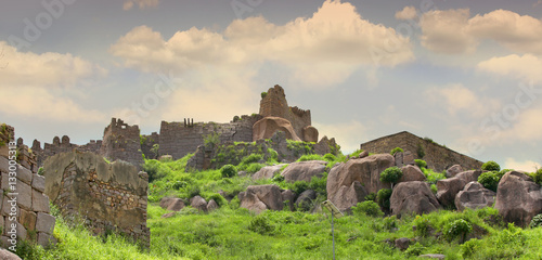 Photo  Historic Golconda fort in Hyderabad India