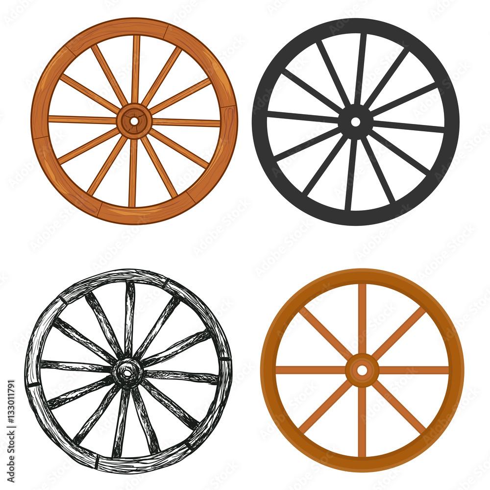 Fototapety, obrazy: Wooden wheel