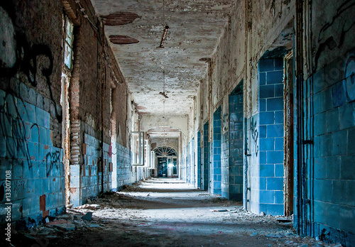 Photo Beelitz-Heilstatten Blue Hallway
