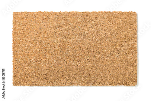 Obraz Blank Home Sweet Home Welcome Mat Isolated on a White Background Ready For Your Own Text. - fototapety do salonu