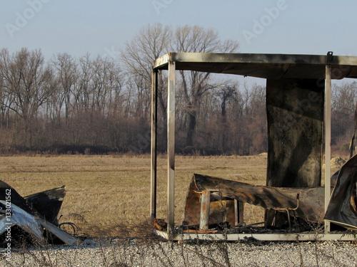 Ufficio In Fiamme : Ufficio dato alle fiamme carbonizzato buy this stock photo and