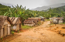 Small Village In Rural Madagascar