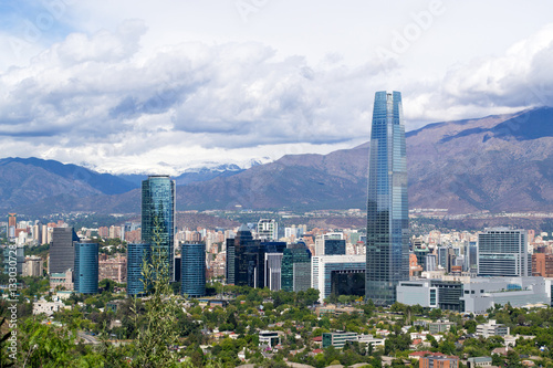Photo  A view of Santiago city in Chile