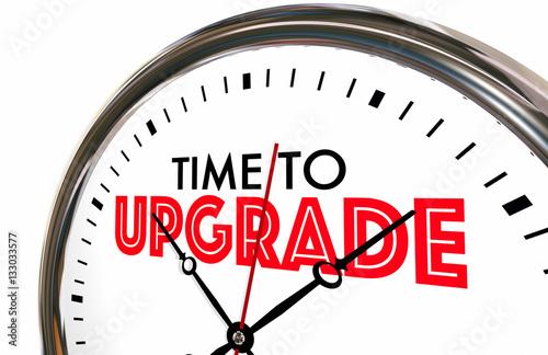 Fotografía  Time to Upgrade Clock Better Improvement 3d Illustration