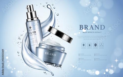 Fotografía  Moisturizing cosmetic products ad