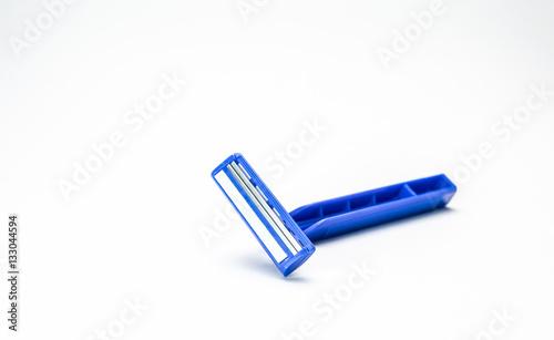 Razor blade on white background