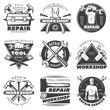 Vintage Repair Workshop Label Set