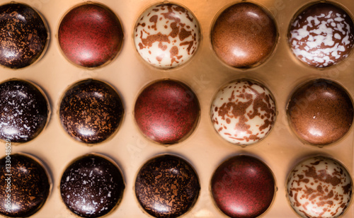 Poster Confiserie chocolate truffles