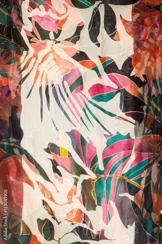Deurstickers Paradijsvogel tissue, textile, fabric, material, texture