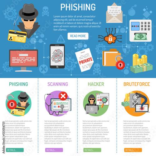 Fotografía  Cyber Crime phishing infographics