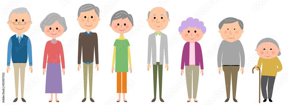 Fototapety, obrazy: 高齢者 シニア 老人