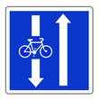 canvas print picture - Panneau routier en France : Conditions particulières de circulation sur la route ou la voie embranchée
