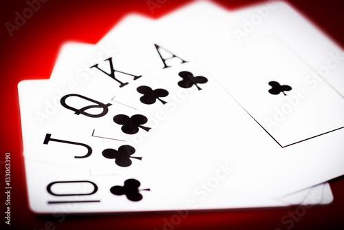 cards with royal flash плакат