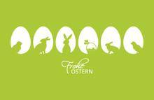 Frohe Ostern Ostereier