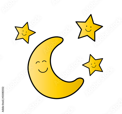 mond und sterne  buy this stock vector and explore