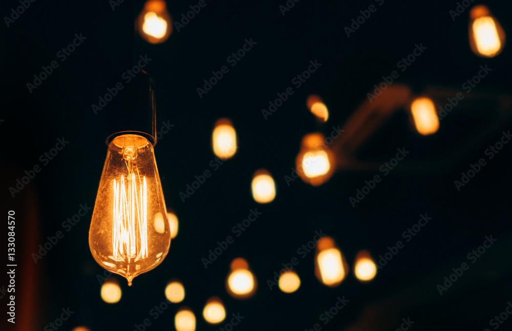 Photo  Old vintage lightbulb home decoration background