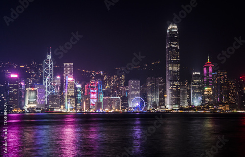 Deurstickers Hong-Kong Hong Kong skyline at night