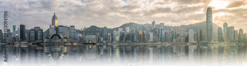 Foto auf Leinwand Hongkong Panorama view of Victoria harbor