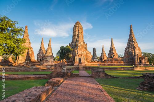 Photo Landscape Ayutthaya Historical Park in Ayutthaya, Thailand...